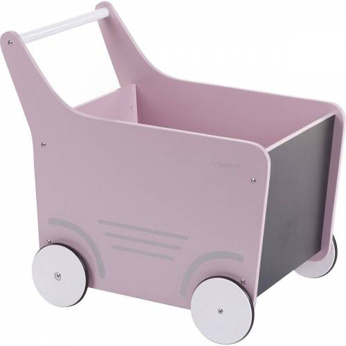 CHILDHOME Puppenwagen »Holz-Puppenwagen Stroller, Holz, rosa«, rosa