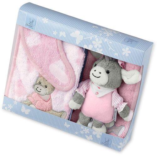 Sterntaler® Spieluhr »Emmi Girl«, (3-tlg), mit Waschhandschuh und Lätzchen