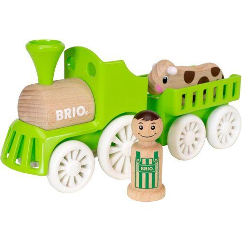 Brio Spielzeug-Eisenbahn »My Home Town Lok mit Kuh-Anhänger«, aus Holz
