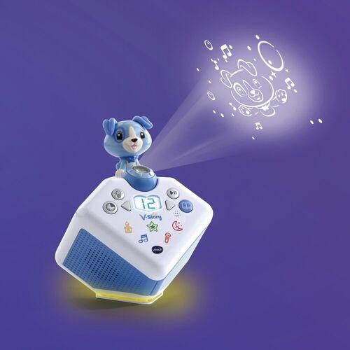 Vtech® Lernspielzeug »V-Story, die Hörspielbox blau«, mit Lichtprojektion und Sound, blau