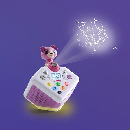 Vtech® Lernspielzeug »V-Story, die Hörspielbox blau«, mit Lichtprojektion und Sound, pink