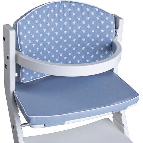tiSsi® Kinder-Sitzauflage »Kronen blau«, für Hochstuhl
