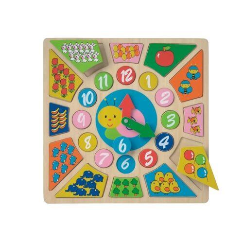 LeNoSa Lernspielzeug »NCT Puzzle Lernspieluhr • Holzspielzeug für Kinder • spielerisch lernen« (24-St)
