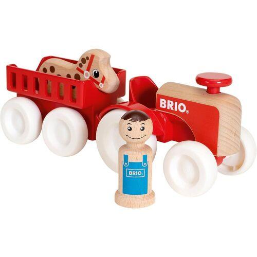 Brio Spielzeug-Eisenbahn »Traktor mit Pferde-Anhänger«