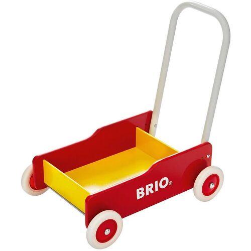 Brio Lauflernwagen »Holz Lauflernwagen«, gelb/rot