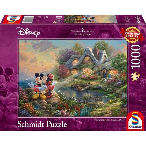 Schmidt Spiele Puzzle »Disney, Sweethearts Mickey & Minnie«, 1000 Puzzleteile, Thomas Kinkade