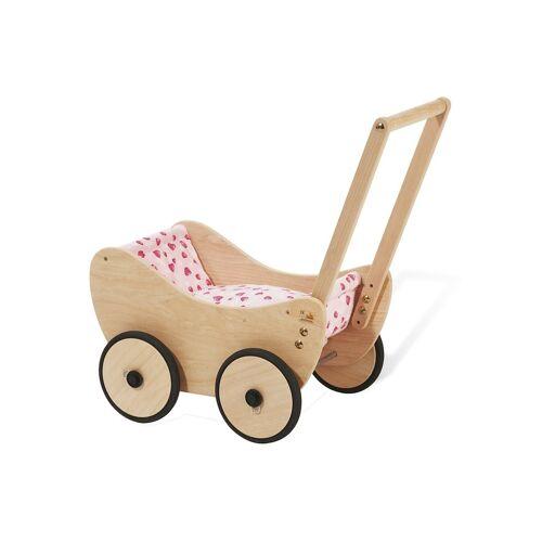 Pinolino® Puppenwagen »Trixi - Herzchen«, aus Holz mit Bettzeug; Made in Europe