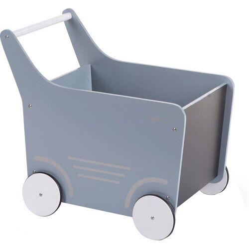 CHILDHOME Puppenwagen »Holz-Puppenwagen Stroller, Holz, rosa«, blau