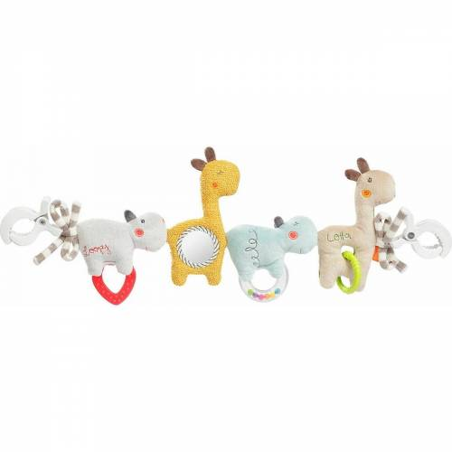 Fehn Kuscheltier »Kinderwagenkette Loopy & Lotta«
