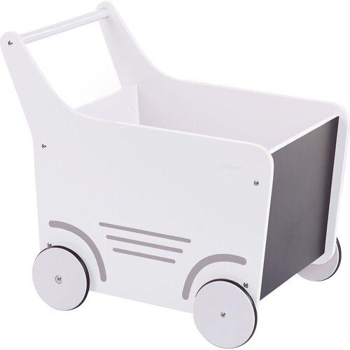 CHILDHOME Puppenwagen »Holz-Puppenwagen Stroller, Holz, rosa«, weiß