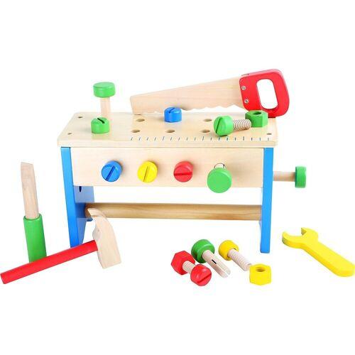 Small Foot Spielwerkzeug »Werkzeugkasten und Werkbank 2 in 1«