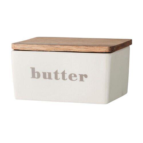 Bloomingville Butterdose »Butterdose«, Steingut, grau