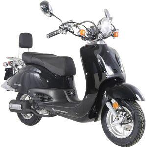 Alpha Motors Komplett-Set: Motorroller »Retro Firenze«, 125 ccm, 80 km/h, schwarz