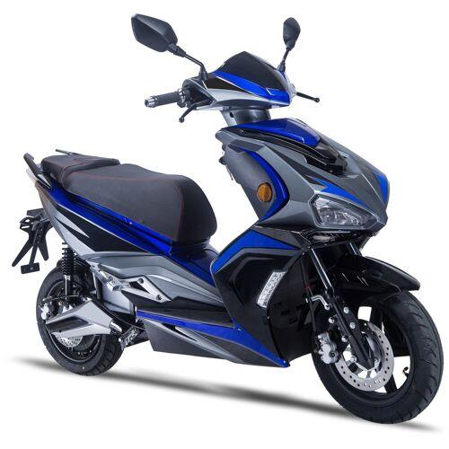 GT UNION E-Mofaroller »eStriker 25 km/h«, 3000 W, 25 km/h, Euro 6, USB Ladedose für Handy, Navi etc., schwarz-blau