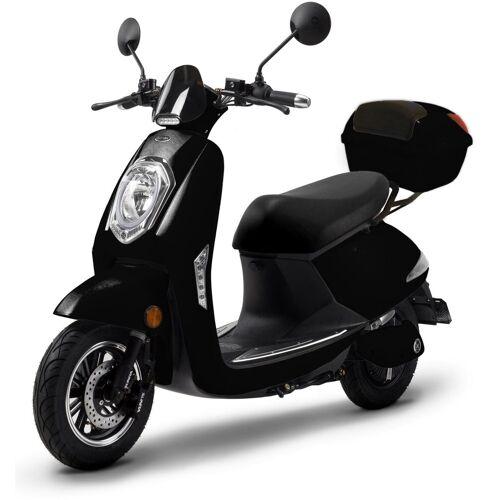 ELEKTROROLLER FUTURA E-Motorroller », Elettrico Li«, 1200 W, 45 km/h, (Set, 2 tlg., mit Topcase), schwarz