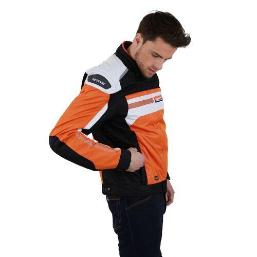 NERVE Motorradjacke »X 66 Unisex«, orange/weiß