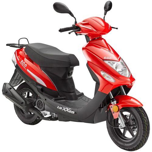 Luxxon Motorroller »Eco«, 49 ccm, 45 km/h, Euro 4, rot