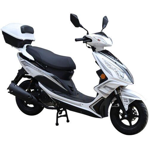 GT UNION Motorroller »GT3«, 50 ccm, 45 km/h, Euro 4, inkl. Topcase, weiß