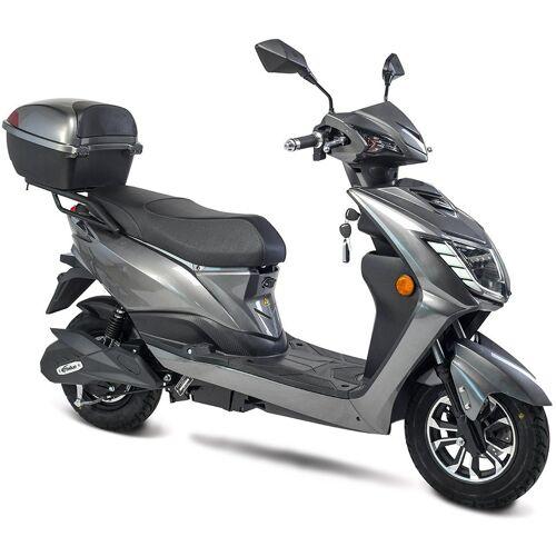 "GT UNION E-Motorroller »eRunner 45 km/h«, 1600 W, 45 km/h, Euro 6, ""Coming Home""-Funktion, Alarmanlage mit 2 Remotecontrollern, Eco-Modus, grau"
