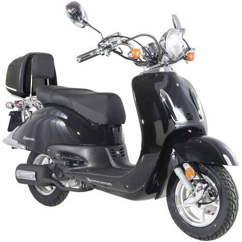 Alpha Motors Motorroller »Firenze«, 125 ccm, 80 km/h, inkl. Topcase, schwarz