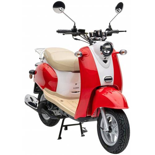 Nova Motors Mofaroller »Retro Star«, 49 ccm, 25 km/h, rot   beige