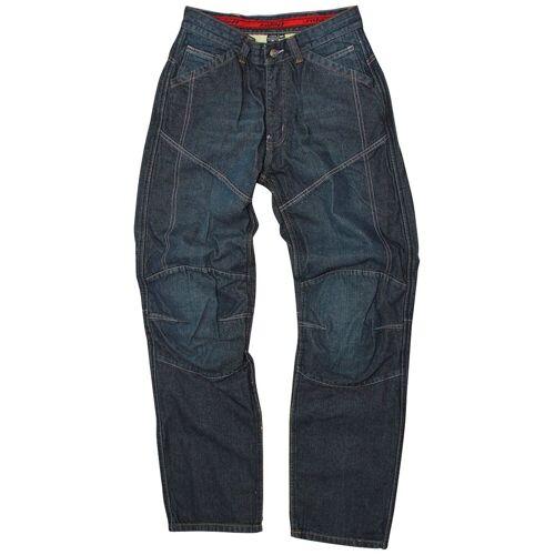 roleff Motorradhose Jeans, blau