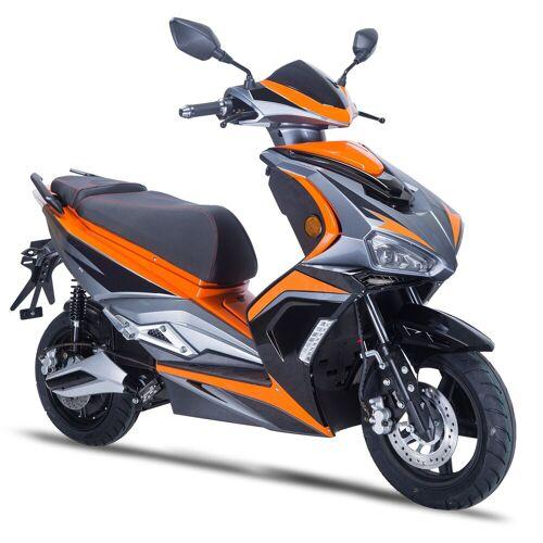 GT UNION E-Mofaroller »eStriker 25 km/h«, 3000 W, 25 km/h, Euro 6, USB Ladedose für Handy, Navi etc., schwarz-orange