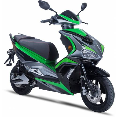 GT UNION E-Mofaroller »eStriker 25 km/h«, 3000 W, 25 km/h, Euro 6, USB Ladedose für Handy, Navi etc., schwarz-grün