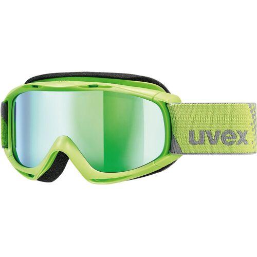 Uvex Skibrille »Skibrille slider FM, pink dl/gold-rose«, grün