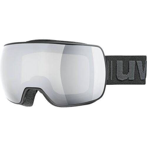 Uvex Skibrille »Skibrille compact LM, black mat dl/mirror silver«