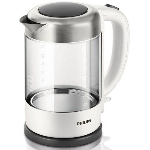 Philips Wasserkocher Glas HD9340/00, 1,5 l, 2200 W, weiß