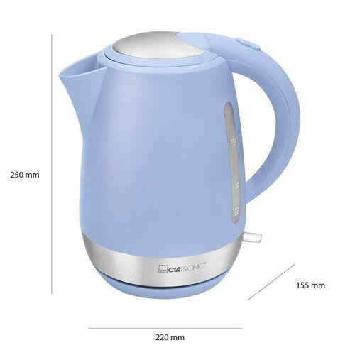 CLATRONIC Wasserkocher WK 3691 Rock´n´Retro 1,7L blau