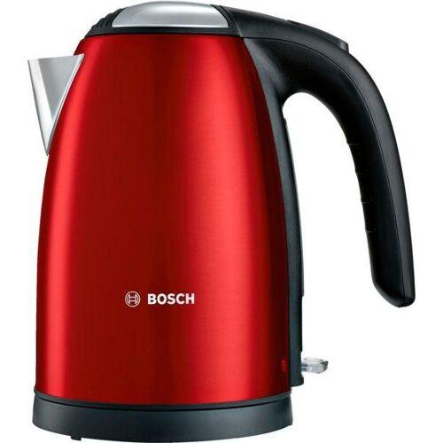 Bosch Wasserkocher TWK7804, 1,7 l, 2200 W, rot-schwarz