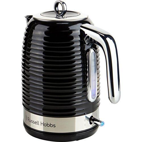 RUSSELL HOBBS Wasserkocher Inspire Black Wasserkocher Schwarz, 2400 Watt, Schnellkochfunktion