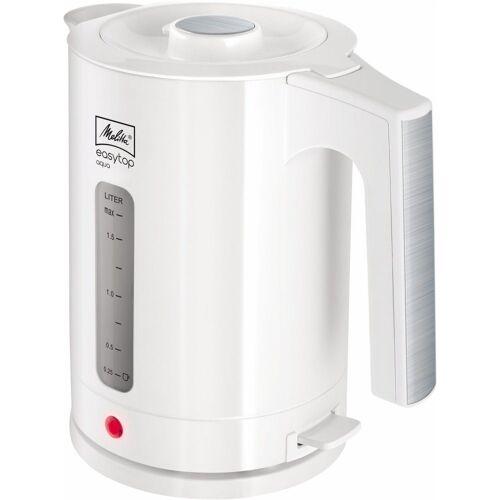 Melitta Wasserkocher 1016-03 Easy Aqua Top - Wasserkocher - weiß/edelstahl, 1,7 l, 2400 W