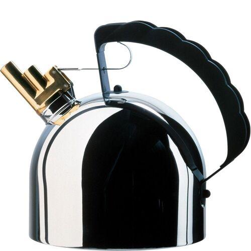 Alessi Wasserkocher Wasserkessel mit Stahlboden (induktionsherdgeeignet) Richard Sapper - 9091fm