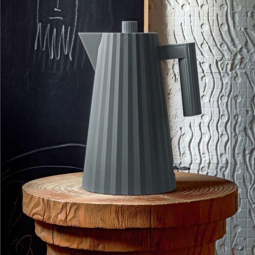 Alessi Wasserkocher Wasserkocher Plissé 1.7 L - Farbwahl, 1.70 l, Grau