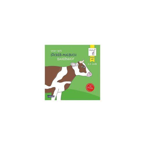 Carlsen Verlag Vicky Bo's Sticker-Malbuch Bauernhof: Erstes Malen, Zeichnen