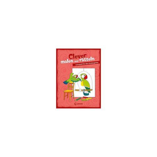 Loewe Verlag Clever malen und rätseln - Lernspaß für den Kindergarten