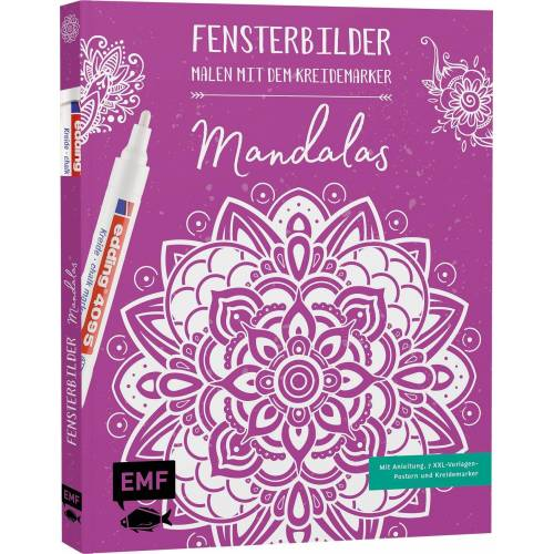 EMF Malvorlage »Fensterbilder - Mandalas«, Inklusive 7 XXL Vorlagebogen