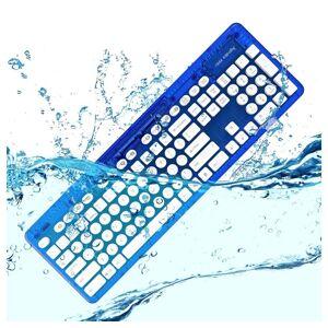 PDP - Performance Designed Products »Tastatur Rock Candy QWERTZ - kabellos PC USB, Wasserdicht, Windows 7/8/10, MAC« Wireless-Tastatur, Blau