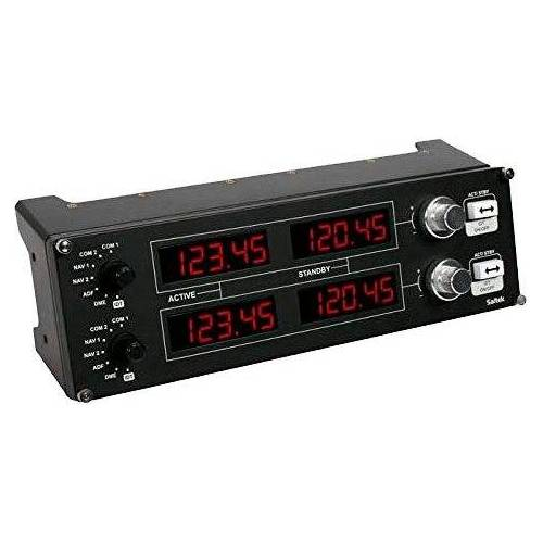 Logitech G »Saitek Pro Flight Radio Panel« Gaming-Adapter, 1,8 cm, KOMPAKTER COCKPIT RADIO STACK