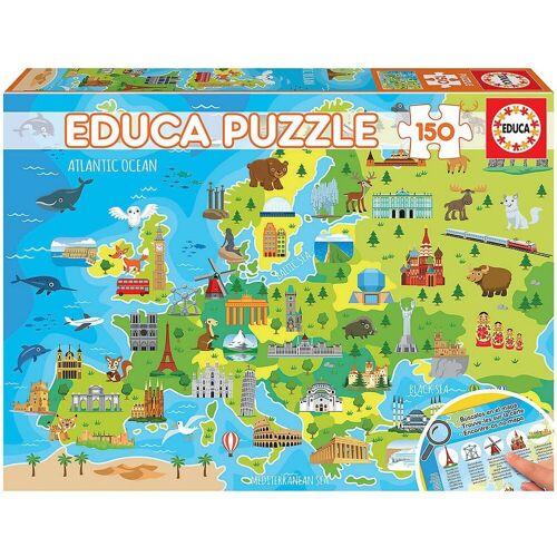 Educa Puzzle »Puzzle Europa Karte, 150 Teile«, Puzzleteile