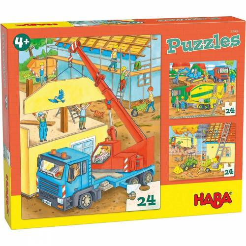 Haba Puzzle »Puzzles Auf der Baustelle«, Puzzleteile