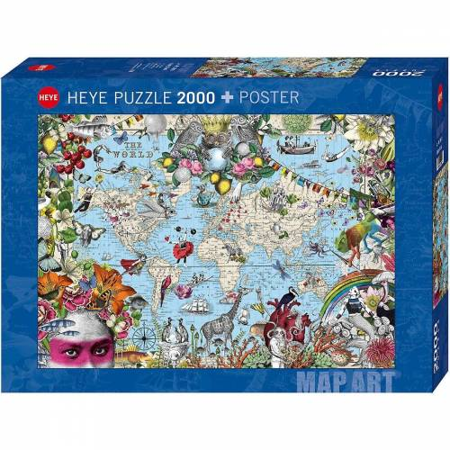 HEYE Puzzle »Puzzle Quirky World, 2000 Teile«, Puzzleteile