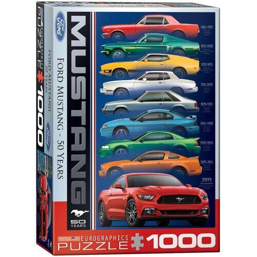 empireposter Puzzle »Ford Mustang Evolution 50 Jahre - 1000 Teile Puzzle im Format 68x48 cm«, Puzzleteile