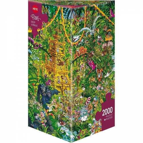 HEYE Puzzle »Puzzle Deep Jungle, Ryba, 2000 Teile«, Puzzleteile