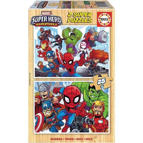 Educa Puzzle »Marvel Super Heros Puzzle, 2x25 Teile«, Puzzleteile