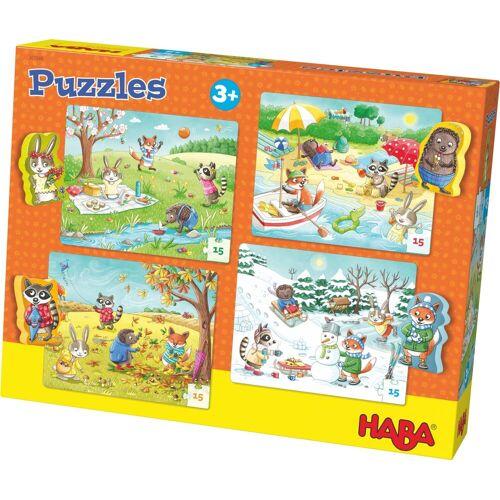 Haba Puzzle »Jahreszeiten«, 60 Puzzleteile