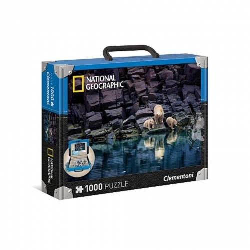 "Clementoni® Steckpuzzle »Clementoni National Geographic Puzzle ""Eisbären an einer Felsküste"" 1000 Teile«, 1000 Puzzleteile"